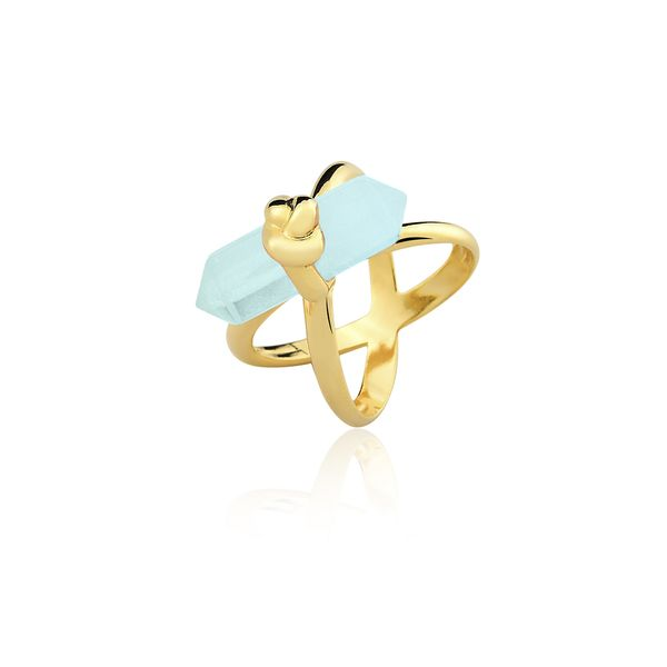 Anel-Knot-Agata-Azul