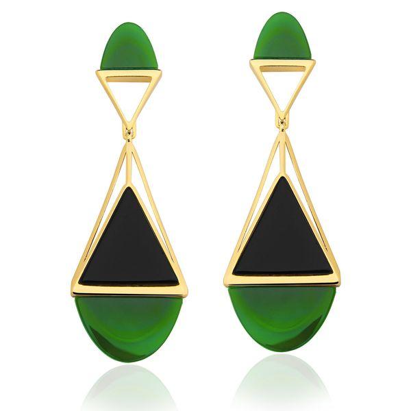 Brinco-Triangle-Agata-Verde-e-Onix