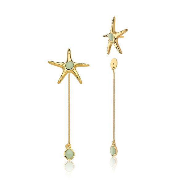 Brinco-Starfish-Quartzo-Verde