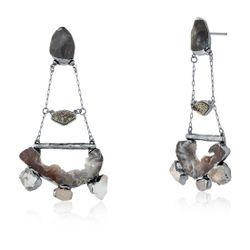 Brinco-Intimo---Agata-Cinza-Cristal-Drusa-Metalizada-e-Labradorita