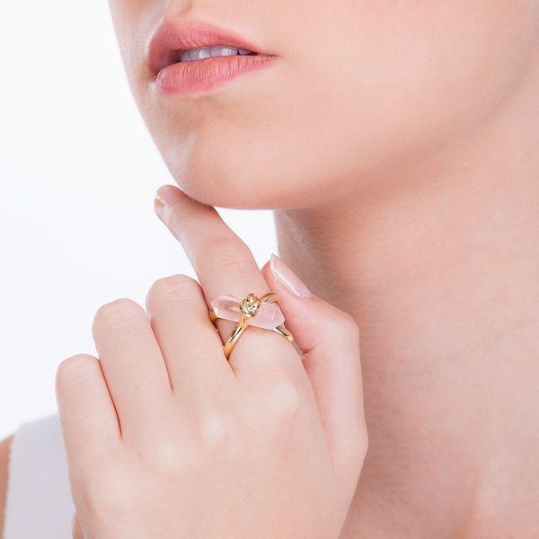 Anel-Knot-Quartzo-Rosa