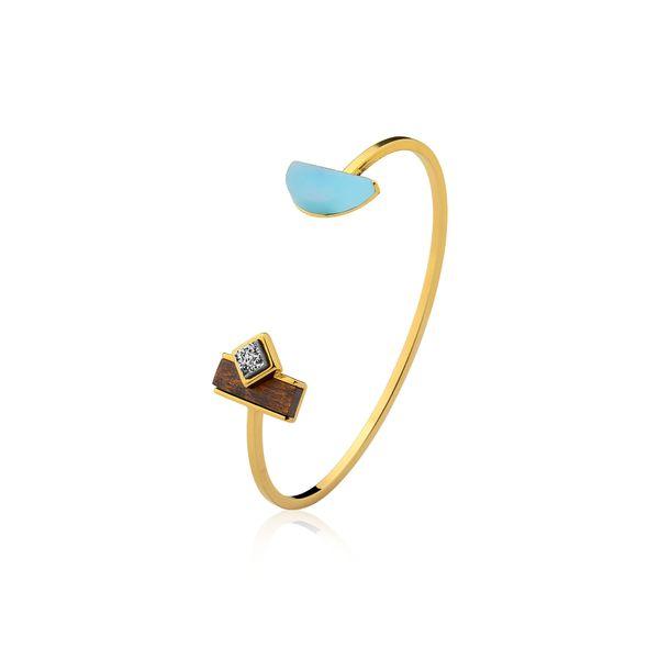 Pulseira-Legno-Cute---Agata-Azul-Drusa-Metalizada-e-Madeira
