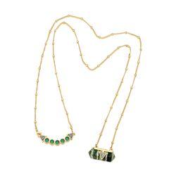 Colar-Santa-Clara---Agata-Verde-Olho-de-Tigre-Verde-e-Drusa-Metalizada