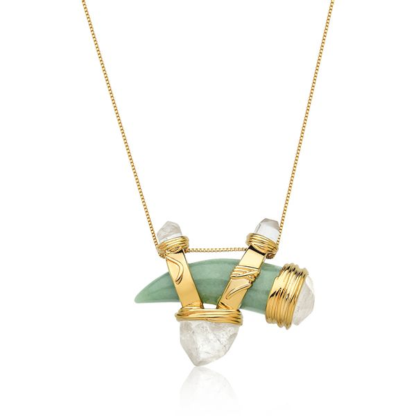 Colar-Selvagem---Quartzo-Verde-e-Cristal-