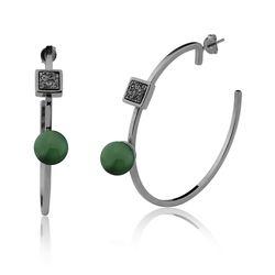 Brinco-Argola-Blanc---Agata-Verde-e-Drusa-Metalizada