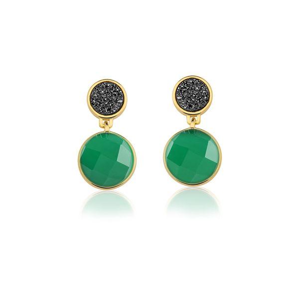 Brinco-Essential---Agata-Verde-e-Drusa-Preta