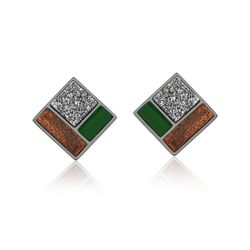 Brinco-Legno-Block---Agata-Verde-Drusa-Metalizada-e-Madeira