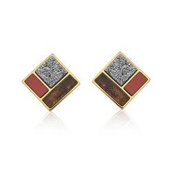 Brinco-Legno-Block---Drusa-Metalizada-Amazonita-Vermelha-e-Madeira