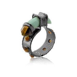 Pulseira-Selvagem---Olho-de-Tigre-e-Quartzo-Verde