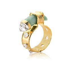 Pulseira-Selvagem---Quartzo-Verde-e-Cristal