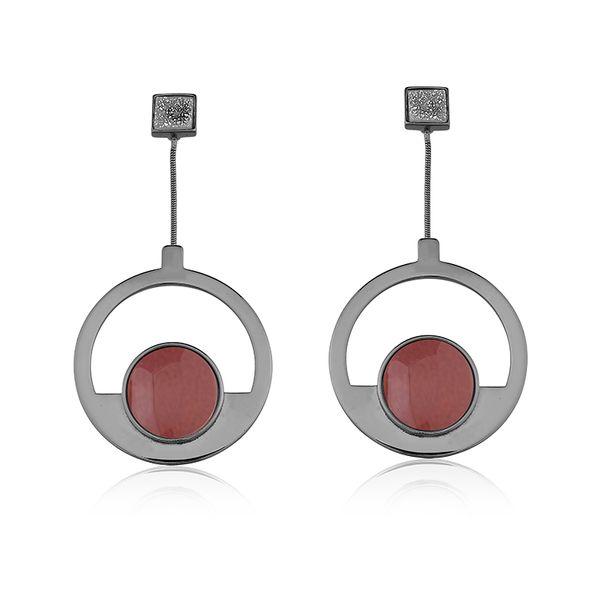 Brinco-Blanc-Mobile---Amazonita-Vermelha-e-Drusa-Metalizada
