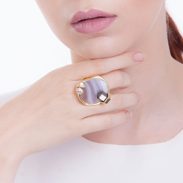 Anel-Essence---Agata-Cinza-Haulita-e-Cristal-Metalizado-