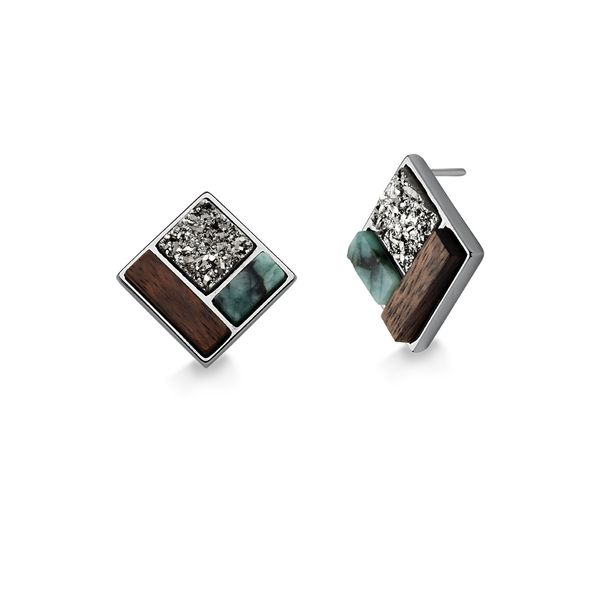 Brinco-Legno-Block---Esmeralda-Madeira-e-Drusa-Metalizada
