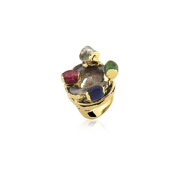 Anel-Alegria---Amazonita-Vermelha-Cristal-Drusa-Metalizada-e-Quartzo-Verde