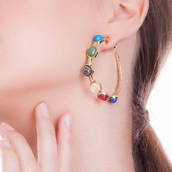 Brinco-Argola-Encanto---Amazonita-Vermelha-Cristal-Drusa-Metalizada-e-Quartzo-Verde