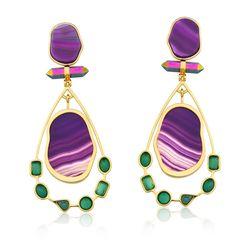 Brinco-Beaute---Agata-Verde-Agata-Roxa-e-Cristal