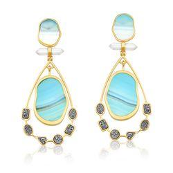 Brinco-Beaute---Agata-Azul-Cristal-e-Drusa-Metalizada