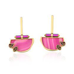 Brinco-Horizon---Agata-Pink-Drusa-e-Cristal-Multicolorido
