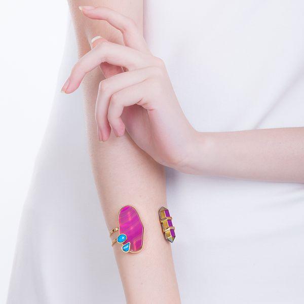 Pulseira-Nature---Agata-Pink-Turquesa-e-Cristal-