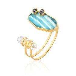 Pulseira-Nature---Agata-Azul-Cristal-e-Drusa-Metalizada-