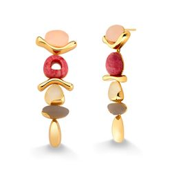 Brinco-Equilibrio---Amazonita-Vermelha-Agata-Cinza-Cristal-e-Quartzo-Rosa