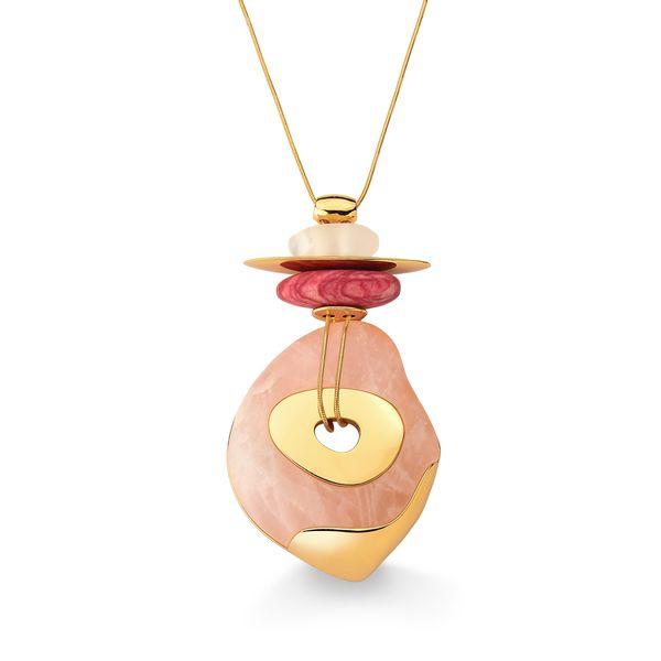 Colar-Serenidade---Amazonita-Vermelha-Cristal-e-Quartzo-Rosa