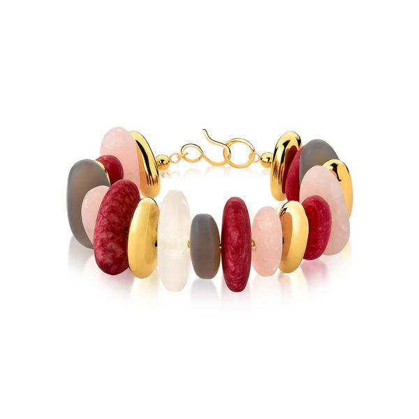 Pulseira-Serenidade---Amazonita-Vermelha-Agata-Cinza-Cristal-e-Quartzo-Rosa