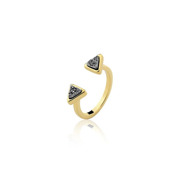 Anel-Mini-Triangulo---Drusa-Metalizada