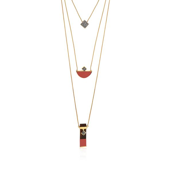 Colar-Legno-Triple---Amazonita-Vermelha-Madeira-e-Drusa-Metalizada