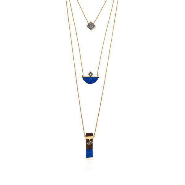Colar-Legno-Triple---Quartzo-Azul-Drusa-Metalizada-e-Madeira