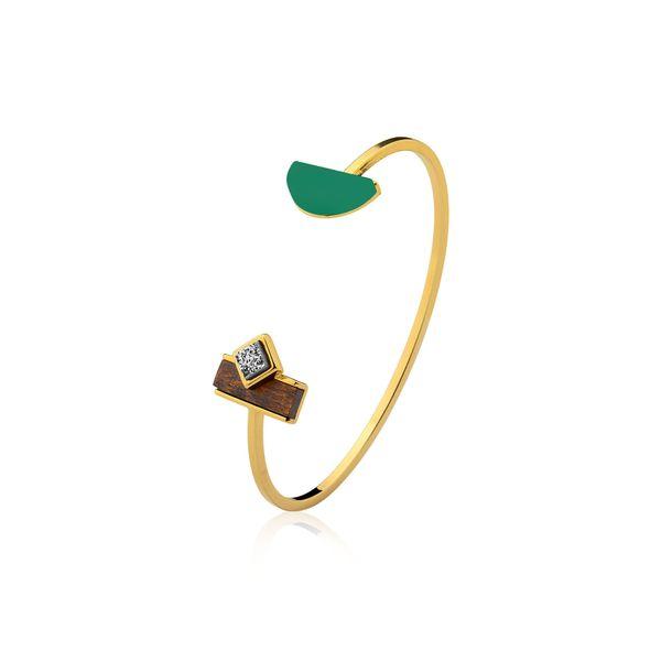Pulseira-Legno-Cute---Agata-Verde-Drusa-Metalizada-e-Madeira
