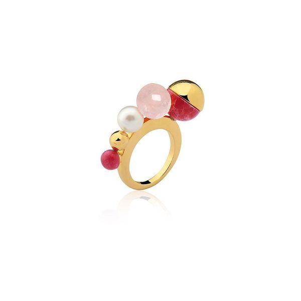 Anel-Dot-Bow---Haulita-Vermelha-Quartzo-Rosa-e-Perola