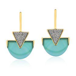 Brinco-Line-Triangle---Agata-Azul-e-Drusa-Metalizada-