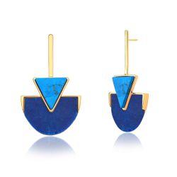 Brinco-Line-Triangle---Quartzo-Azul-Anil-e-Turquesa