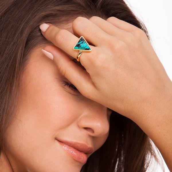 Anel-Little-Triangle---Turquesa-Mexicana---Colecao-Geometric