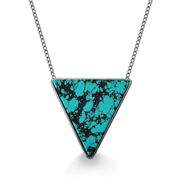 Colar-Triangle---Turquesa-Mexicana---Colecao-Geometric