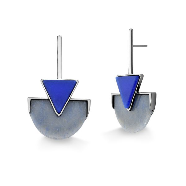 Brinco-Line-Triangle---Marsala-Azul-e-Quartzo-Azul-Anil---Colecao-Geometric