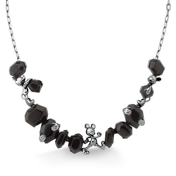 Colar-Choker-Mickey---Obsidiana-Preta---Colecao-Disney-Launch