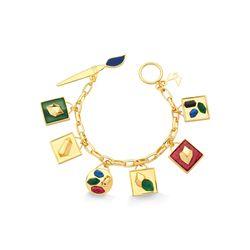 Pulseira-Galeria---Agata-Verde-Amazonita-Vermelha-Obsidiana-Preta-e-Quartzo-Azul-Anil---Colecao-Galeria