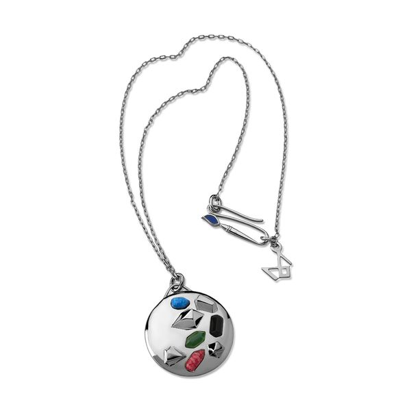 Colar-Pop---Agata-Verde-Amazonita-Vermelha-Obsidiana-Preta-e-Quartzo-Azul-Anil---Colecao-Galeria