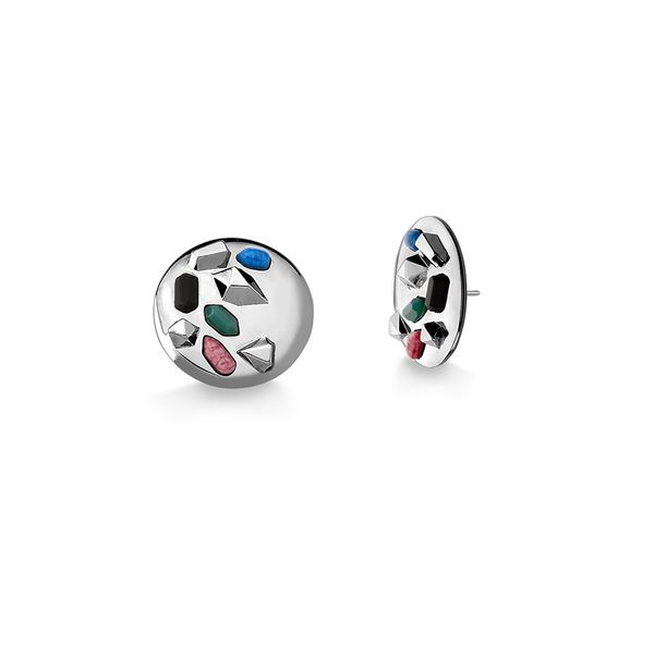 Brinco-Pop---Agata-Verde-Amazonita-Vermelha-Obsidiana-Preta-e-Quartzo-Azul-Anil---Colecao-Galeria