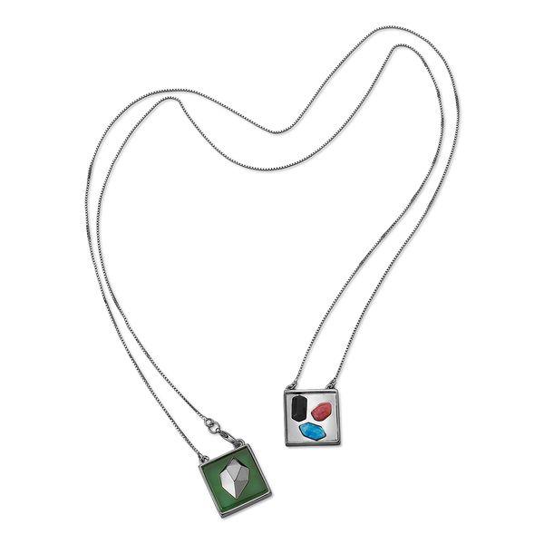 Colar-Galeria---Agata-Verde-Amazonita-Vermelha-Obsidiana-Preta-Quartzo-Azul-Anil---Colecao-Galeria