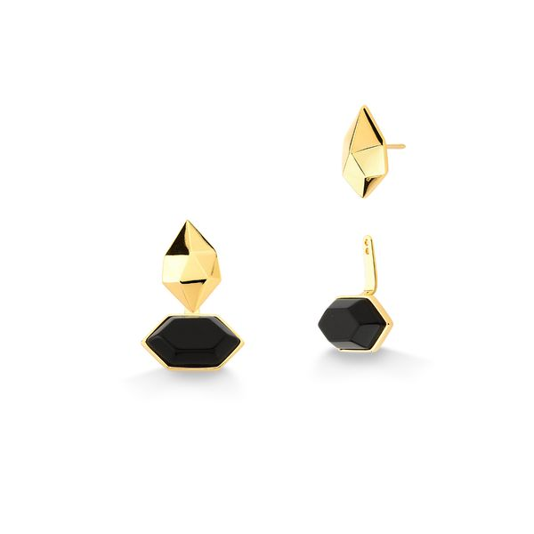 Brinco-Petit-Braque---Obsidiana-Preta---Colecao-Galeria