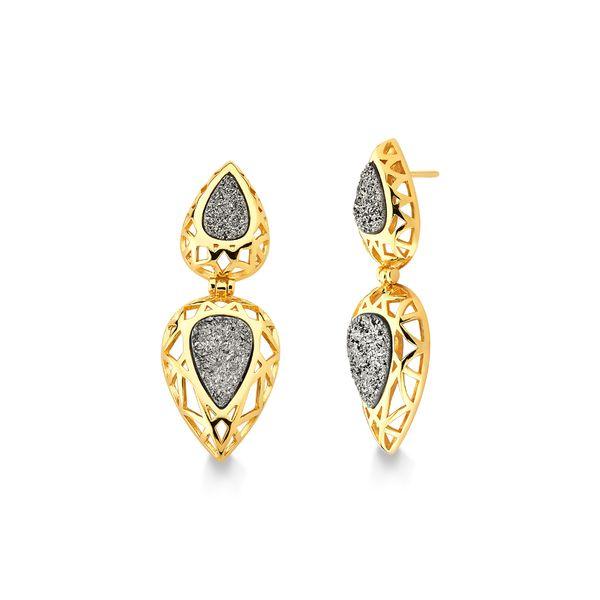 Brinco-Diamante-Gota-2---Drusa-Metalizada---Colecao-Icone