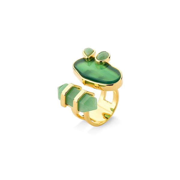 Anel-Nature---Agata-Verde-e-Aventurina---Colecao-Acquarella