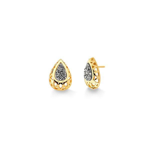 Brinco-Diamante-Gota-3---Drusa-Metalizada---Colecao-Icone