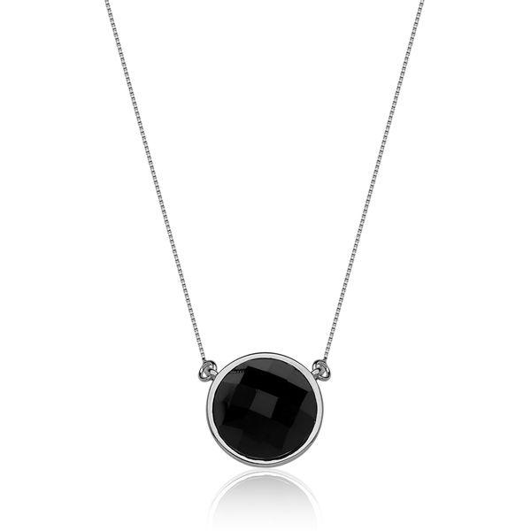 Colar-Solitario---Obsidiana-Preta---Colecao-Icone