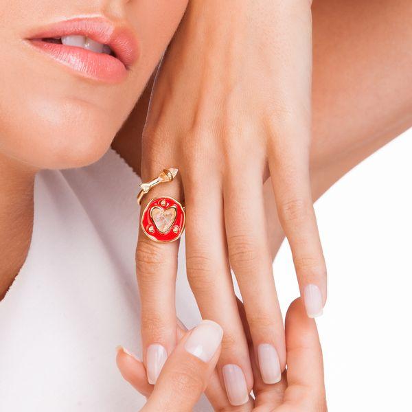 Anel-Welcome-Love---Cristal-e-Esmalte-Vermelho---Colecao-Welcome-Love