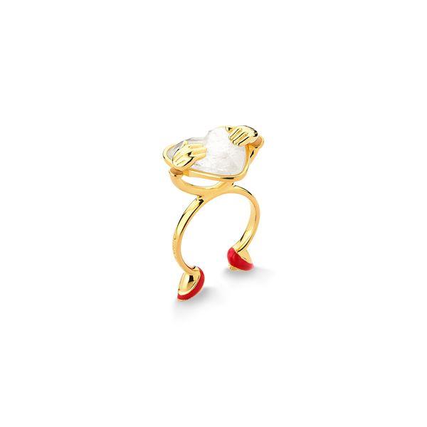 Anel-Disney-Love---Cristal-e-Esmalte-Vermelho---Colecao-Welcome-Love