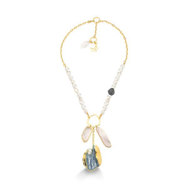 Colar-Sonho---Cristal-Esmalte-Azul-Madreperola-e-Quartzo-Trolita---Colecao-Existe-em-Mim